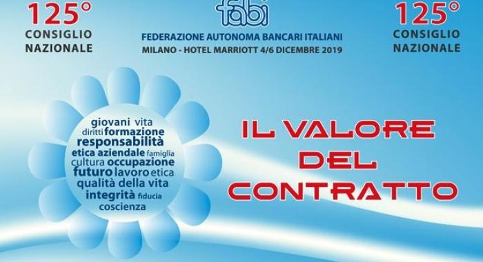 125° Consiglio Nazionale FABI, Milano 4-6 dicembre 2019, il programma