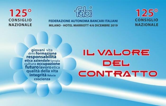 """""""Il valore del contratto"""", a Milano il 125° Consiglio Nazionale della FABI"""