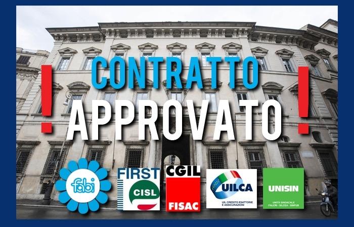Contratto dei bancari approvato in maniera definitiva